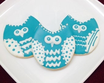 Owl Cookie Favors - Set of 6