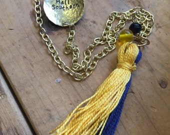 Georgia Southern Tassel Necklace