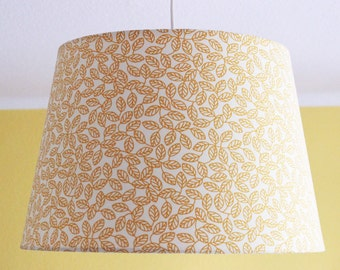 "Hanging lamp, lampshade ""Golden Leaves"""