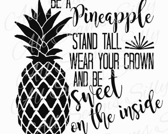 Be a pineapple decal