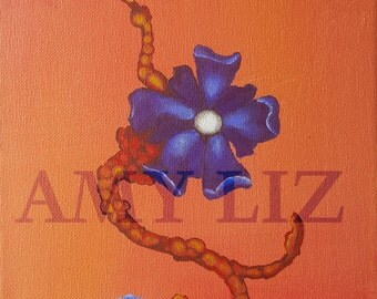 Prints: Blue Flower Painting