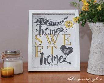 Keys To Our Hearts Match Our Home Sweet Home Print and Frame