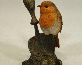 Robin on trowel