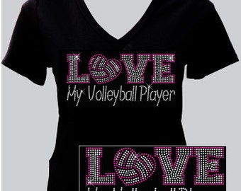 Love My VB Player - Rhinestone T-shirt