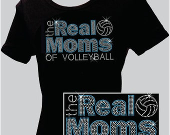 Real Moms of Volleyball - Rhinestone T-shirt