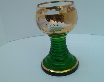 Rhine wine glass from the 1950s