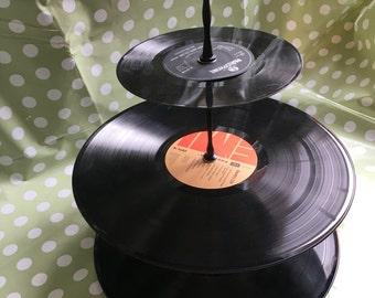 Vinyl cake stand