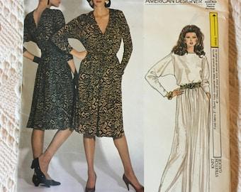 Vogue 1980's Vintage Diane Von Furstenberg Designer Sewing Pattern