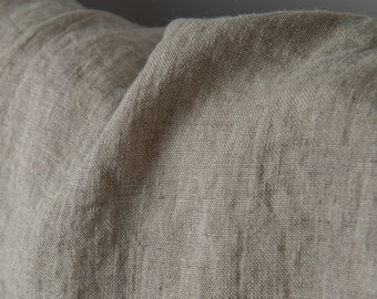 Linen fabric, washed linen, 210gsm. Natural gray color. Linen fabric by the meters, linen by the yard. For clothes and other textile