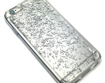 Glitter iPhone 5S Case, Glitter iPhone 5 Case, Silver iPhone SE Case, Glitter iPhone 5S Case , iPhone 5 Case, Silver Glitter iPhone Case