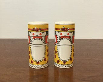 Vintage Carlton Ware Maid Salt and Pepper Shakers/Pot Shakers from England