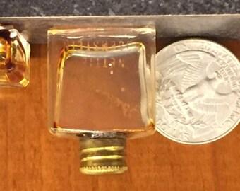 Vintage Odalisque Nettie Rosenstein brass cap perfume bottles (2) empty - FREE SHIPPING