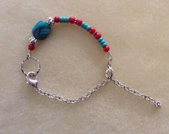 Assymetrical Aquaswirl bracelet