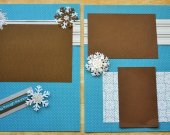 Dashing thru the Snow - 12 x 12 double page scrapbook winter layout