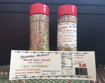 All Natural Dried & Specially Blended Hot Pepper Flakes