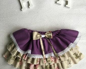 ruffle skirt, Baby skirt, kids skirt, roses