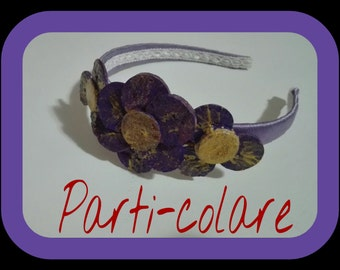 Headband (Hairband) original with flowers of Cork