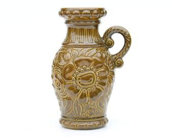 75% off last chance-Scheurich West German ceramic vase-487-28-Germany-Retro