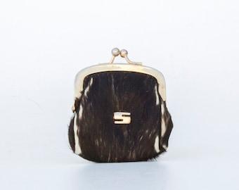 Vintage ladies wallet of cowhide