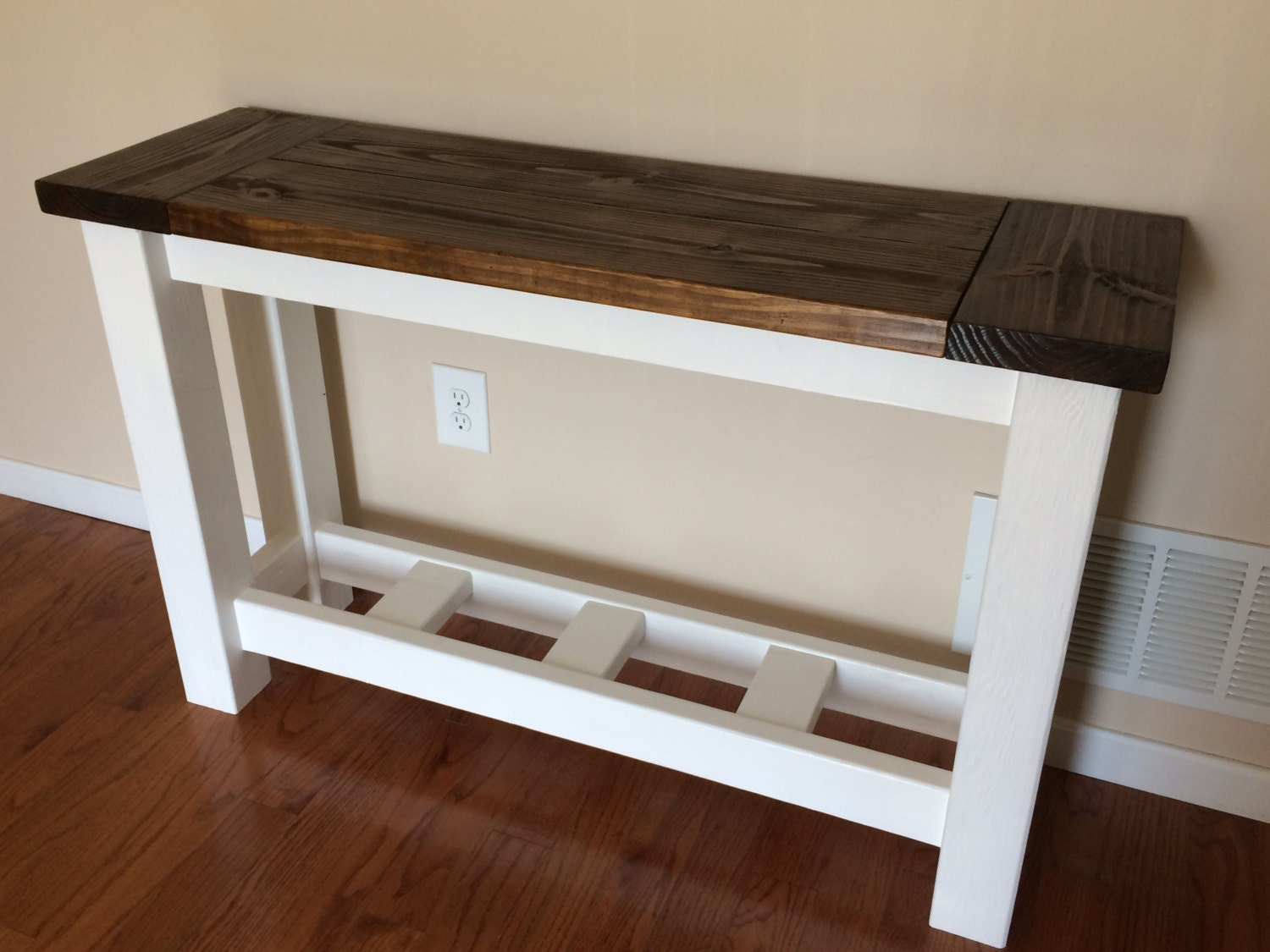Rustic Pine Foyer Table : Rustic farmhouse sofa or foyer table