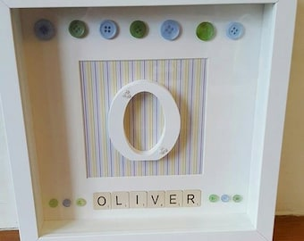 Personalised name / initial frame - Boy