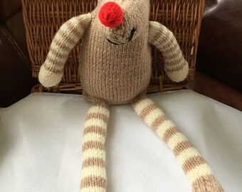 Hand Knitted Reindeer
