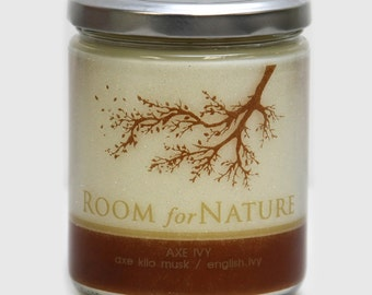 AxeIvy Soy Candle + Thermal Wrap Label
