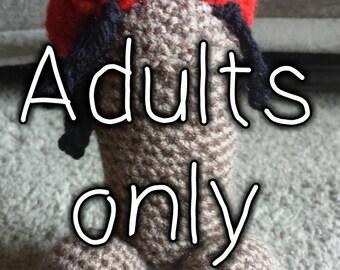 Knob Marley crochet penis plush