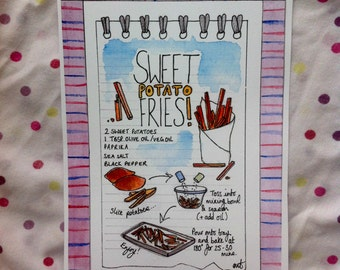 Sweet Potato Fries Recipe Card