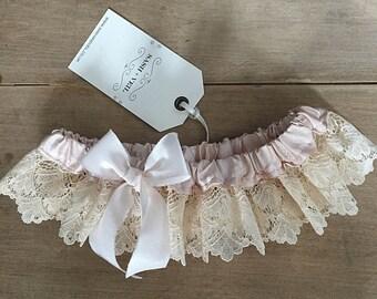 Daisy Silk + Lace Wedding Garter - Wedding Accessories - Bridal Lingerie