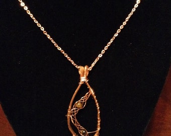 CN1 copper wire wrapped necklace