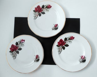 Mayfair Pottery, Three Rose Side/Tea Plates