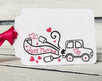 Just Married Tags Wedding Favor Thank you Tags