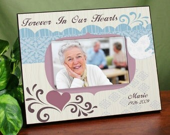 Personalized Memorial Picture Frames Forever in Our Hearts Printed Remembrance Photo Frame