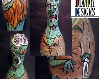 Brains! - Zombie Bowling Pin
