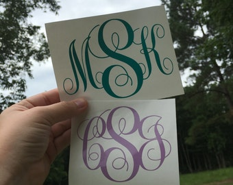Fancy Monogram Decal