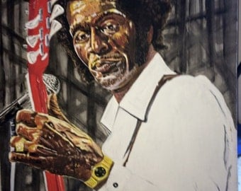 "Chuck Berry Oil painting 24"" by 30"""
