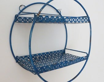 Vintage blue circle shelf