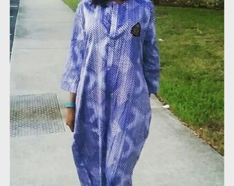 Kuayeaso Blue Patterned Female Jalabiya