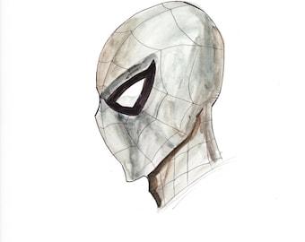Spiderman Gray Headsketch