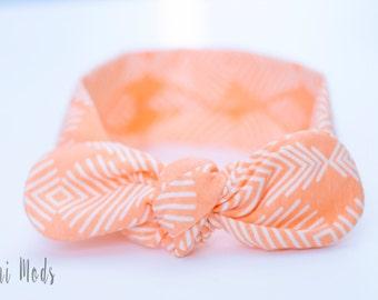 Peach Top Knot Headband / Baby Headband / Knot Baby Headwrap / Peach Headband / Tie knot Turban Headband / Baby Shower Gift