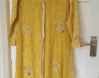 yellow indian pakistani formal dress