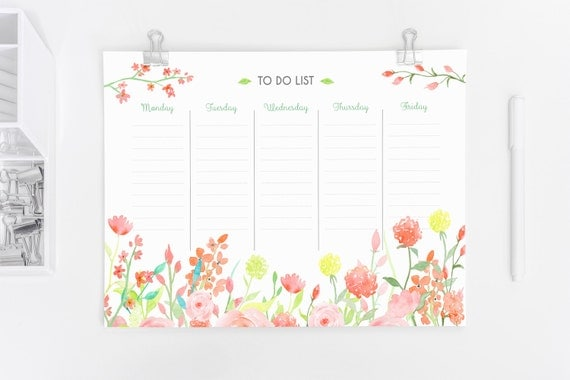 Weekly Planner Printable A4 A5 Size To Do List Instant