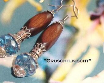 """""""Ice crystal"""" earrings"""