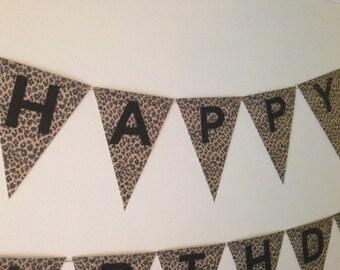 Cheetah Print Birthday Banner