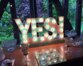 "Neon sign ""YES!"" Just a Spark"