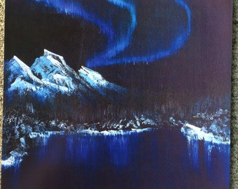 Northern Lights Painting Print