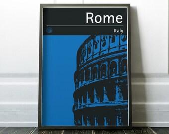 Rome Poster, Travel Print, Wall Art, Travel Poster, Travel Art, Rome Wall Art, Rome Art, Rome Print, Italy Poster, Italy Art