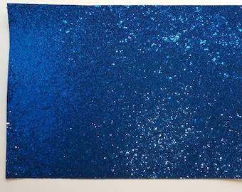 A4 sheet of Cobalt chunky  glitter