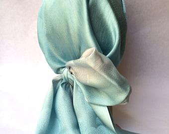 Japanese silk scarf - Sky